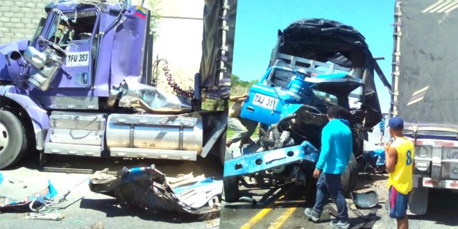 Dos heridos en choque de tractocamiones en la vía alterna entre Santa Marta y Ciénaga