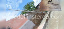 Poste de telefonía fija cayó sobre vivienda en el sur de Ciénaga