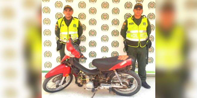 La Policía recuperó una motocicleta hurtada
