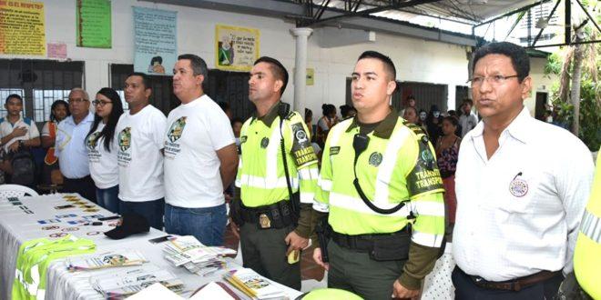 Intracienaga lanzó programa educativo de seguridad vial y movilidad en la I.E El Carmen