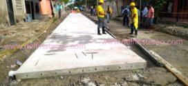 Comienzan a fundir las primeras placas del pavimento en la carrera 5, mercado público