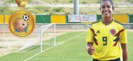 Valentina Restrepo, goleadora del torneo de fútbol femenino de los XVIII Juegos Bolivarianos