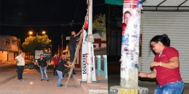 Alcaldía desmonta publicidad de partidos y movimientos políticos en algunos sectores de Ciénaga