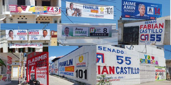 """Contaminación visual """"Politiquera"""" abunda en Ciénaga"""