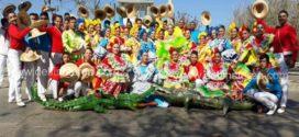 La reina Angie Granadillo y Trietnia, son la representación de Ciénaga en el carnaval de Barranquilla