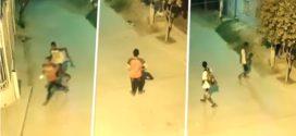 En video queda registrado el robo de cámaras de seguridad