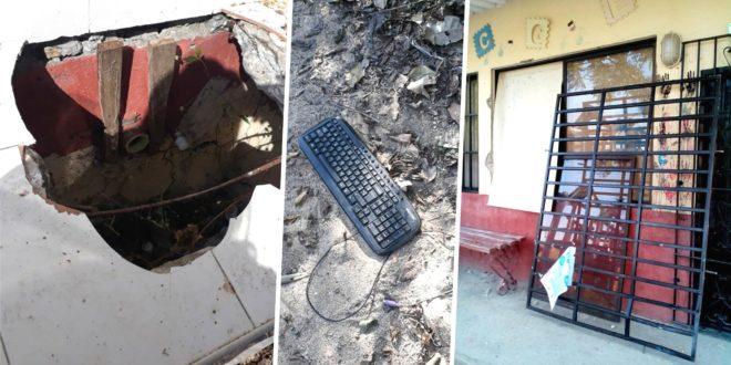 Roban  computadores y otros elementos de la escuela de Jolonura, área rural de Ciénaga